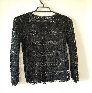 Topshop knit lace top
